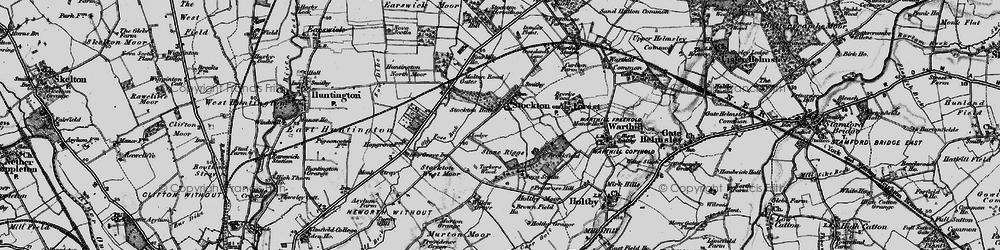 Old map of Willow Grove in 1898
