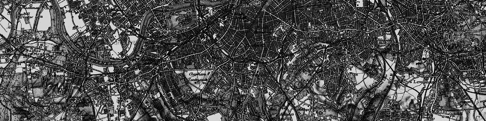 Old map of Stockwell in 1896