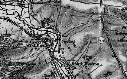 Old map of Stoford in 1898