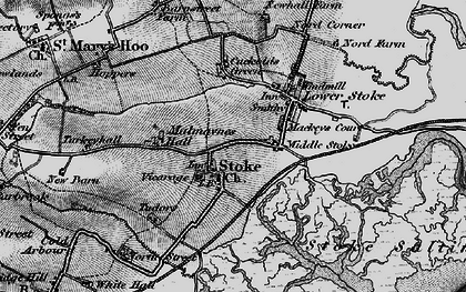 Old map of Stoke in 1896