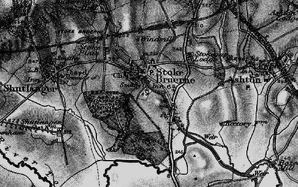 Old map of Stoke Bruerne in 1896