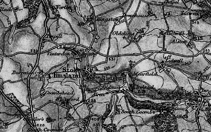 Old map of Stoke Climsland in 1896