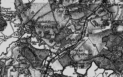 Old map of Stoke D' Abernon in 1896