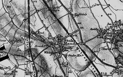 Old map of Stoke Mandeville in 1895