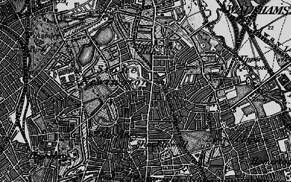 Old map of Stoke Newington in 1896