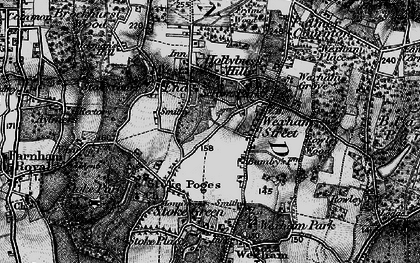 Old map of Stoke Poges in 1896