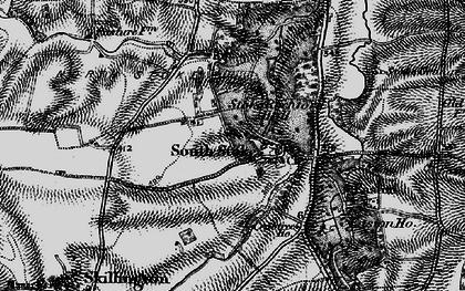 Old map of Stoke Rochford in 1895