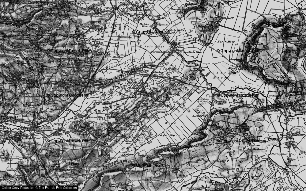 Old Map of Stoke St Gregory, 1898 in 1898