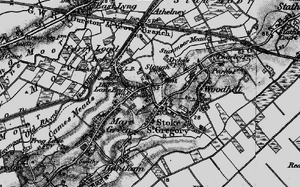 Old map of Stoke St Gregory in 1898