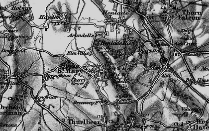 Old map of Stoke St Mary in 1898