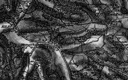 Old map of Stokenchurch in 1895