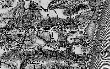 Old map of Widewell in 1897