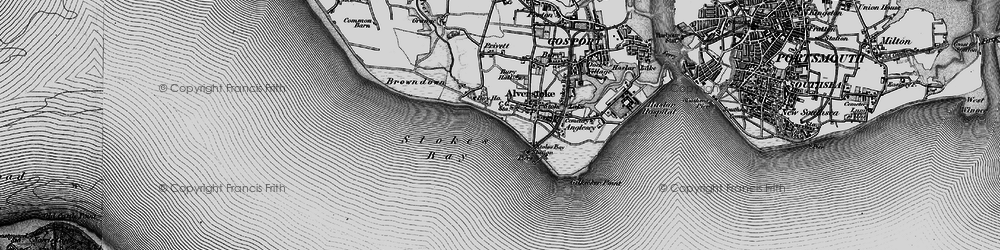 Old map of Stokes Bay in 1895