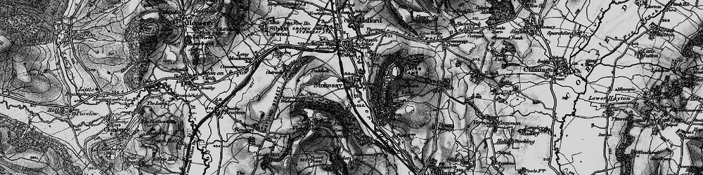 Old map of Stokesay in 1899