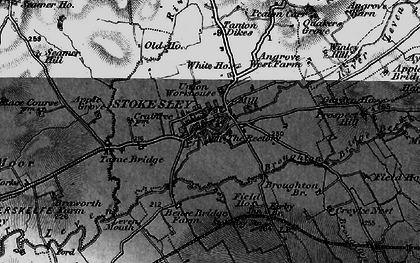Old map of Stokesley in 1898