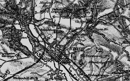 Old map of Stone in 1897