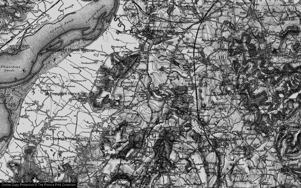 Old Map of Stone, 1897 in 1897