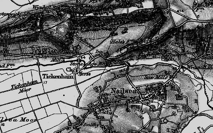 Old map of Lime Breach Wood in 1898