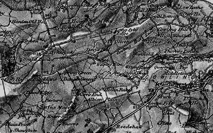 Old map of Laneshaw Resr in 1898