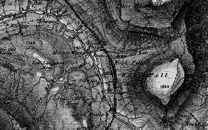 Old map of Widdale Great Tarn in 1898