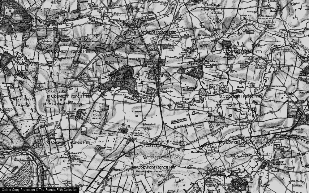 Old Map of Historic Map covering Woodcock Hill in 1898