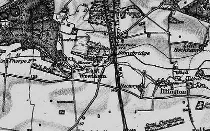 Old map of Woodcock Hill in 1898