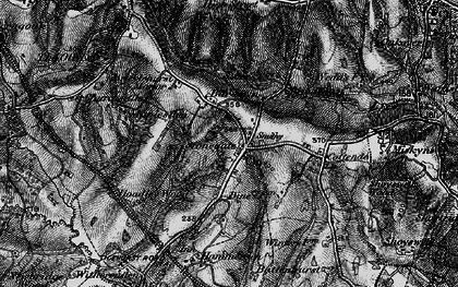 Old map of Stonegate in 1895