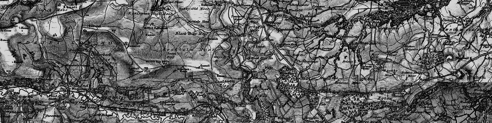 Old map of Westonby Plantn in 1898