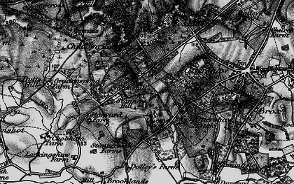 Old map of Stonehill in 1896