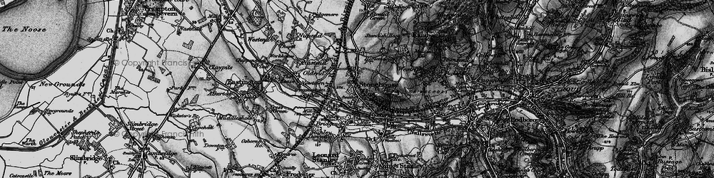 Old map of Stonehouse in 1897