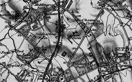 Old map of Stoneleigh in 1896