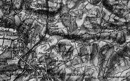 Old map of Ashplats Wood in 1895