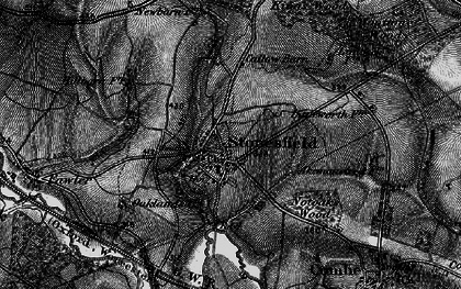 Old map of Ash Copse in 1896