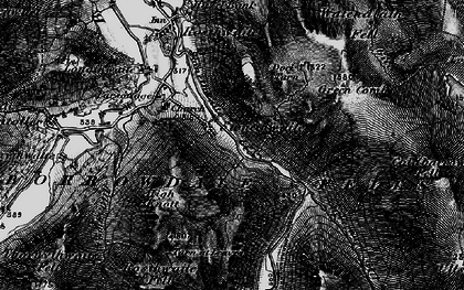 Old map of White Crag in 1897