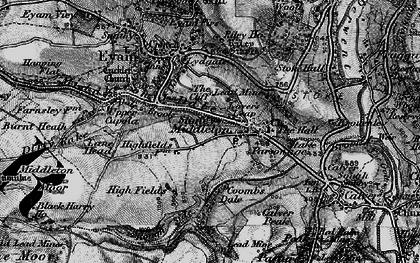 Old map of Stoney Middleton in 1896