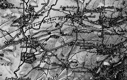 Old map of Asbatch in 1899