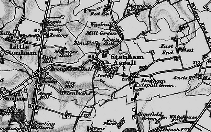 Old map of Whin Plantn in 1898