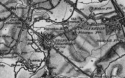 Old map of Stony Stratford in 1896