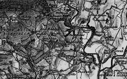 Old map of Woodfields in 1896