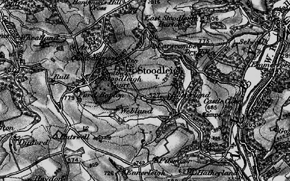 Old map of Ash in 1898