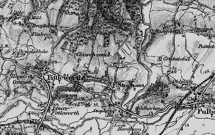 Old map of Stopham Ho in 1895