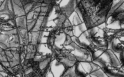 Old map of Stopsley in 1896
