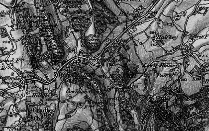 Old map of Whitman's Hill Coppice in 1898