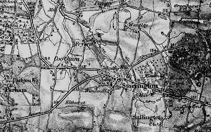 Old map of Storrington in 1895