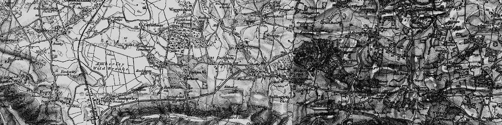 Old map of Storrington in 1895