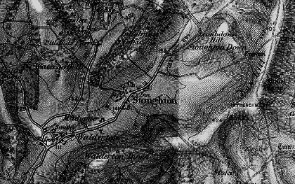 Old map of Stoughton in 1895