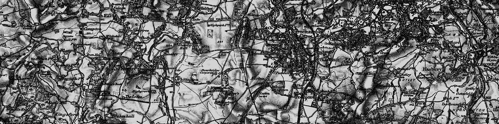 Old map of Stourbridge in 1899