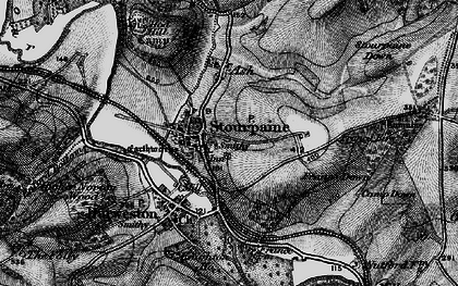 Old map of Stourpaine in 1898