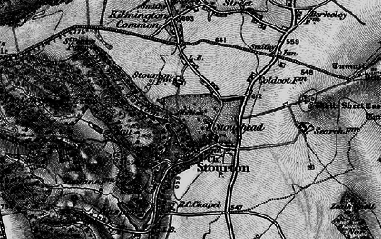 Old map of Stourhead in 1898