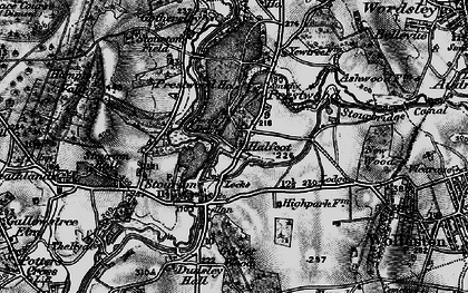 Old map of Stourton in 1899